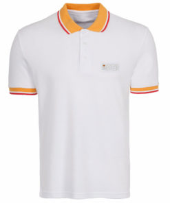 JCB White Polo T-Shirt