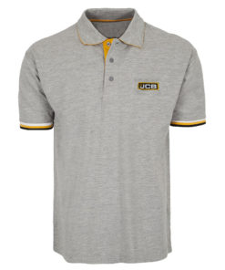 JCB Light Grey Polo T-Shirt