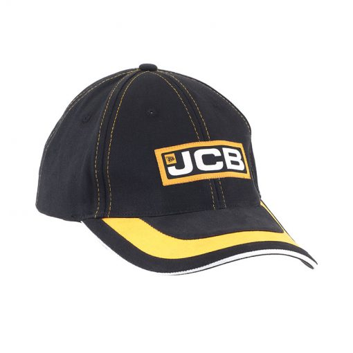 JCB Black Yellow Curve Cap